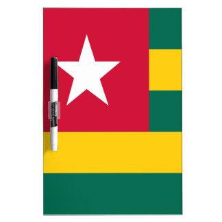 De vlag van Togo Whiteboards