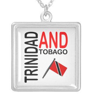De Vlag van Trinidad & van Tobago Zilver Vergulden Ketting