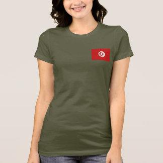 De Vlag van Tunesië en DKT-shirt van de Kaart T Shirt