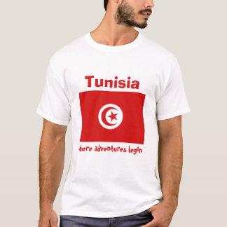 De Vlag van Tunesië + Kaart + De T-shirt van de