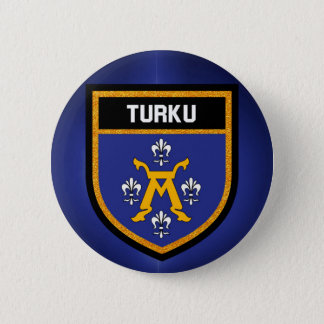 De Vlag van Turku Ronde Button 5,7 Cm