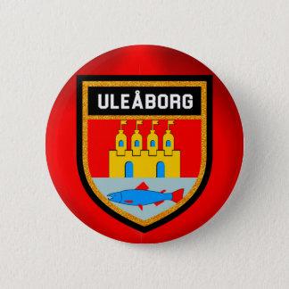 De Vlag van Uleåborg Ronde Button 5,7 Cm