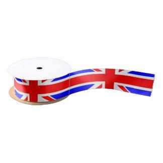 De vlag van Union Jack het UK Satijnen Lint