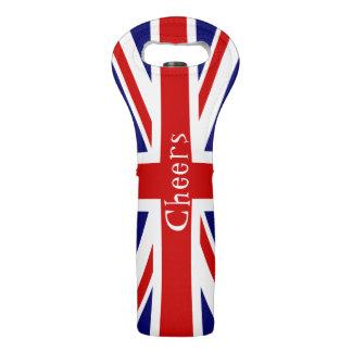 De Vlag van Union Jack juicht toe Wijndraagtas