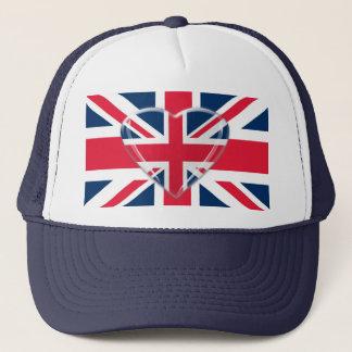 De Vlag van Union Jack met het Ontwerp van het Trucker Pet