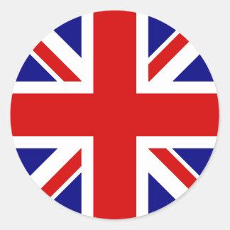 De vlag van Union Jack Ronde Stickers
