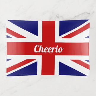 De Vlag van Union Jack van Cheerio van het UK Sierschaaltjes