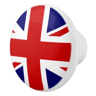 De vlag van Union Jack van het Verenigd Koninkrijk Keramische Knop
