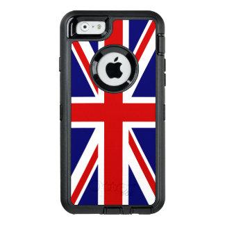 De Vlag van Union Jack van het Verenigd Koninkrijk OtterBox Defender iPhone Hoesje