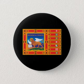De Vlag van Venetië Ronde Button 5,7 Cm