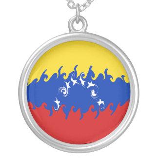 De Vlag van Venezuela Gnarly Zilver Vergulden Ketting