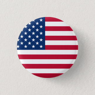 De Vlag van Verenigde Staten Ronde Button 3,2 Cm