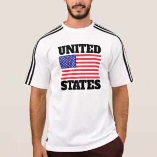 De Vlag van Verenigde Staten (Zwarte Tekst) T Shirt