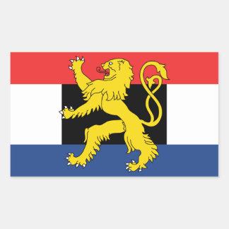 De Vlag van VIER Benelux Rechthoekige Sticker