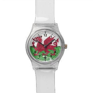 De Vlag van Wales van Grunge Polshorloge