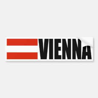 De Vlag van Wenen Oostenrijk Bumpersticker