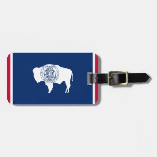 De Vlag van Wyoming Kofferlabel