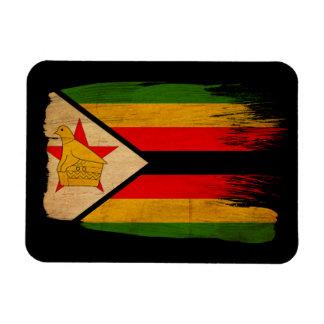De Vlag van Zimbabwe Magneet