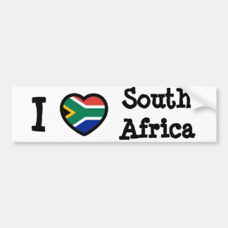 De Vlag van Zuid-Afrika Bumpersticker
