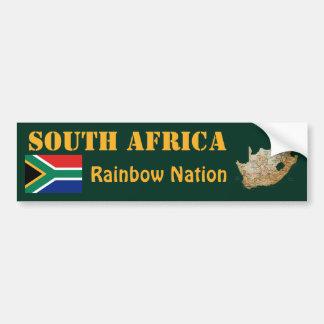 De Vlag van Zuid-Afrika + De Sticker van de Bumper Bumpersticker