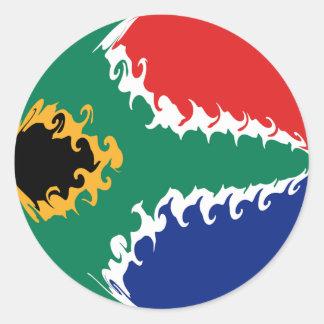 De Vlag van Zuid-Afrika Gnarly Ronde Sticker
