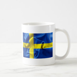 De Vlag van Zweden Basic Witte Mok
