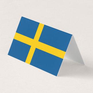 De Vlag van Zweden Visitekaartje