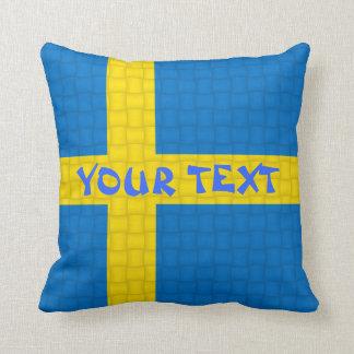De Vlag van Zweden: VOEG TEKST TOE Sierkussen