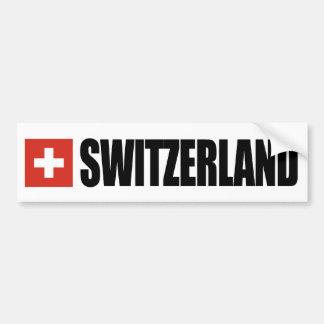 De Vlag van Zwitserland Bumpersticker