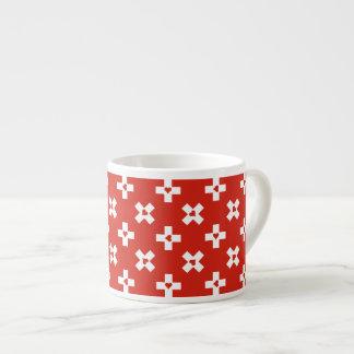 De Vlag van Zwitserland met het patroon van het Espresso Kop