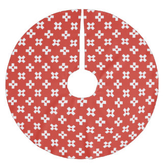 De Vlag van Zwitserland met het patroon van het Kerstboom Rok