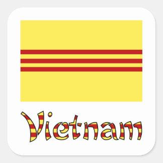De Vlag & Word pre-1974 van Vietnam Vierkante Sticker