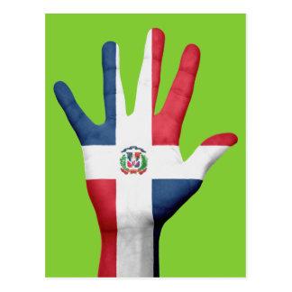 De vlagbriefkaart van de Dominicaanse Republiek Briefkaart