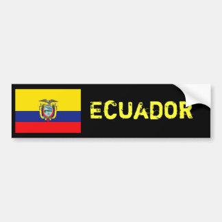 De vlagbumper van Ecuador Bumpersticker