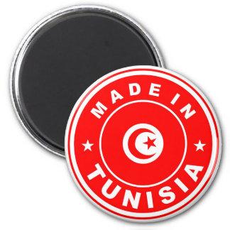 de vlagetiket van het productland in Tunesië wordt Ronde Magneet 5,7 Cm
