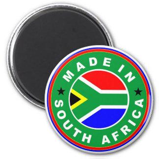 de vlagetiket van het productland in Zuid-Afrika w Ronde Magneet 5,7 Cm