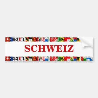 De vlaggen van de Duitse Kantons van Zwitserland, Bumpersticker
