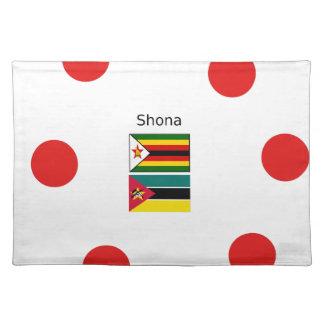 De Vlaggen van de Taal van Shona en van Zimbabwe Placemat