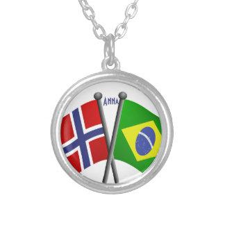 De Vlaggen van de Vriendschap van Noorwegen Ketting Rond Hangertje