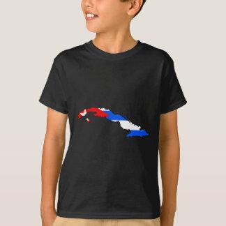 De vlagkaart van Cuba T Shirt