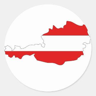 De vlagkaart van Oostenrijk Ronde Sticker