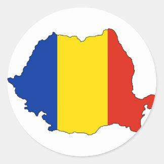 De vlagkaart van Roemenië Ronde Sticker