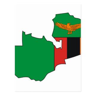 De vlagkaart van Zambia Briefkaart