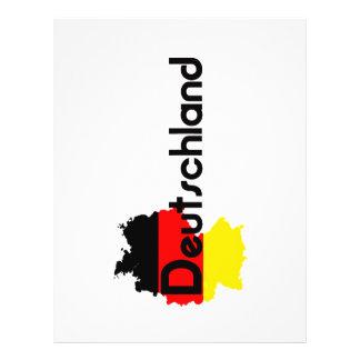 De vlagkleuren van Deutschland! Flyer 21,6 X 27,9 Cm