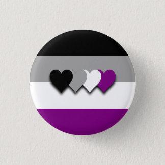 De vlagknoop van Asexuality Ronde Button 3,2 Cm
