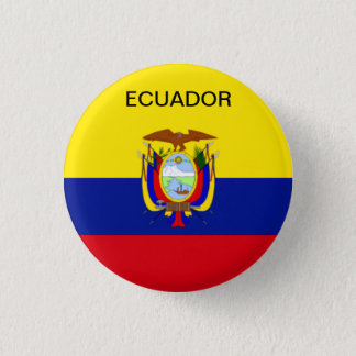 De vlagknoop van Ecuador Ronde Button 3,2 Cm