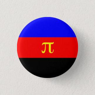 De vlagknoop van Polyamory Ronde Button 3,2 Cm