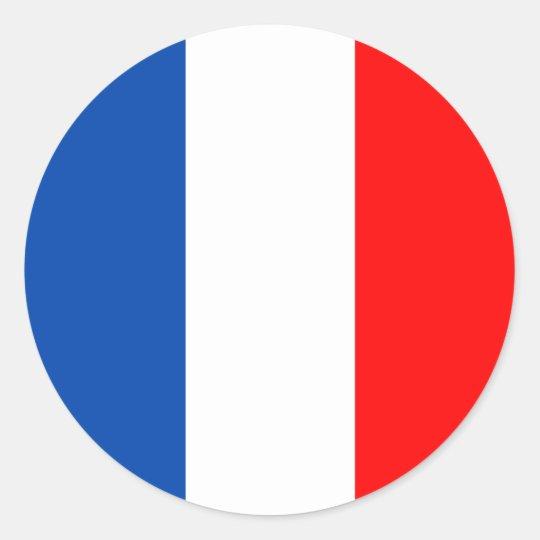 De vlagkwaliteit van Frankrijk Ronde Stickers