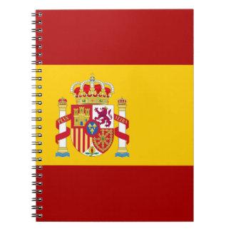 De vlagkwaliteit van Spanje Ringband Notitieboek
