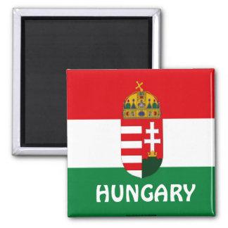 De vlagmagneet van Hongarije Vierkante Magneet